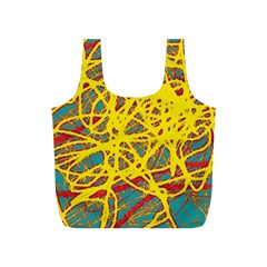Yellow neon Full Print Recycle Bags (S)