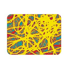 Yellow neon Double Sided Flano Blanket (Mini)