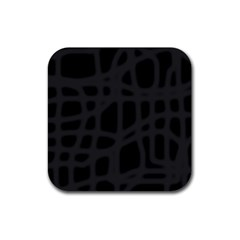 Gray Rubber Square Coaster (4 pack)