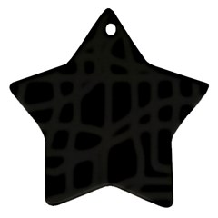 Gray Star Ornament (Two Sides)
