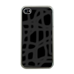 Gray Apple iPhone 4 Case (Clear)