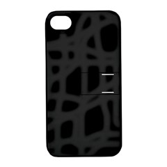 Gray Apple iPhone 4/4S Hardshell Case with Stand