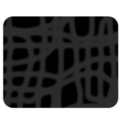 Gray Double Sided Flano Blanket (Medium)