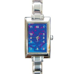 Deep blue Rectangle Italian Charm Watch