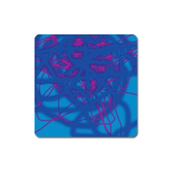 Deep Blue Square Magnet