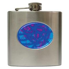 Deep blue Hip Flask (6 oz)