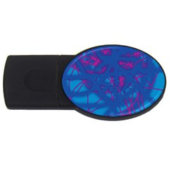 Deep blue USB Flash Drive Oval (4 GB)