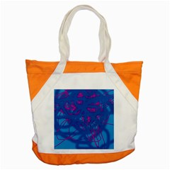 Deep Blue Accent Tote Bag