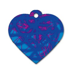 Deep blue Dog Tag Heart (Two Sides)