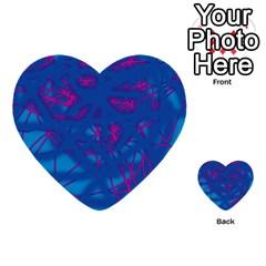 Deep blue Multi-purpose Cards (Heart)