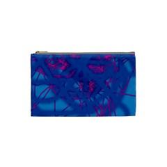 Deep blue Cosmetic Bag (Small)