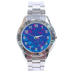 Deep blue Stainless Steel Analogue Watch
