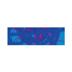 Deep blue Satin Scarf (Oblong)