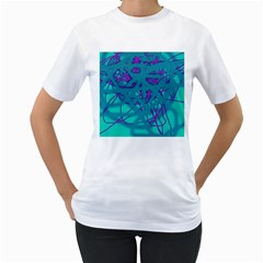 Chaos Women s T-Shirt (White) (Two Sided)