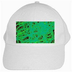 Green neon White Cap