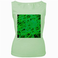 Green neon Women s Green Tank Top