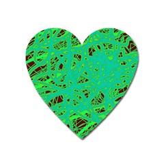 Green neon Heart Magnet