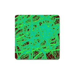 Green Neon Square Magnet
