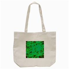 Green Neon Tote Bag (cream)