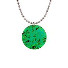Green neon Button Necklaces
