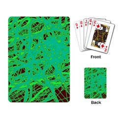 Green neon Playing Card