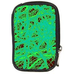 Green neon Compact Camera Cases