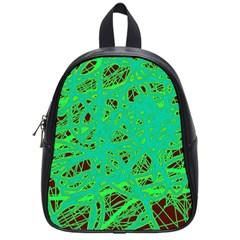Green neon School Bags (Small)