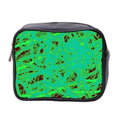 Green neon Mini Toiletries Bag 2-Side