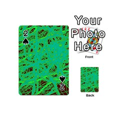 Green neon Playing Cards 54 (Mini)