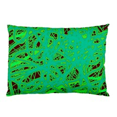 Green neon Pillow Case (Two Sides)