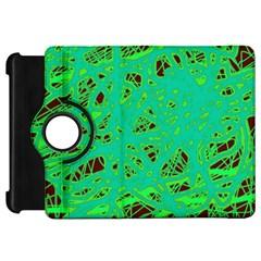 Green neon Kindle Fire HD Flip 360 Case