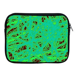Green neon Apple iPad 2/3/4 Zipper Cases