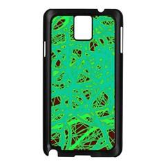 Green neon Samsung Galaxy Note 3 N9005 Case (Black)
