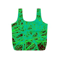 Green neon Full Print Recycle Bags (S)