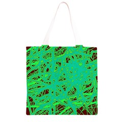 Green neon Grocery Light Tote Bag
