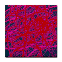 Red Neon Tile Coasters