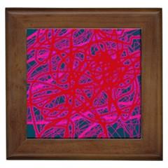 Red neon Framed Tiles