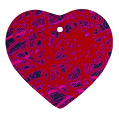 Red neon Ornament (Heart)