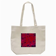 Red Neon Tote Bag (cream)