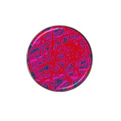 Red neon Hat Clip Ball Marker