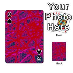 Red neon Playing Cards 54 Designs