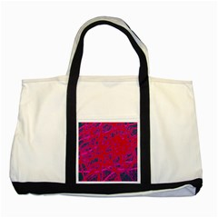 Red neon Two Tone Tote Bag