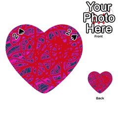 Red neon Playing Cards 54 (Heart)