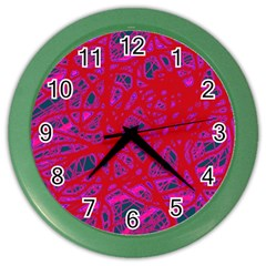 Red neon Color Wall Clocks