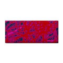 Red neon Hand Towel