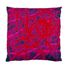 Red neon Standard Cushion Case (One Side)