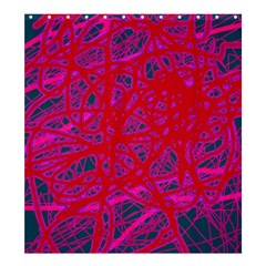 Red neon Shower Curtain 66  x 72  (Large)