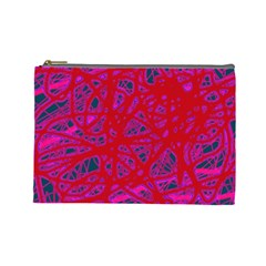 Red neon Cosmetic Bag (Large)