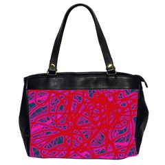 Red neon Office Handbags (2 Sides)