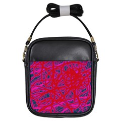 Red neon Girls Sling Bags
